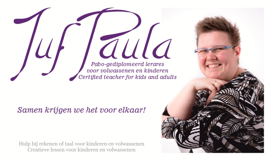 Juf Paula website homepage