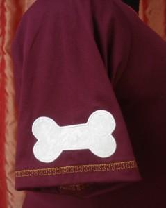 Hondenshirt detail