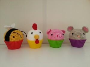 Cupcake beestjes
