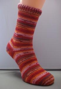 Sok standaard sokkenwol (patroon te koop, zie webshop)